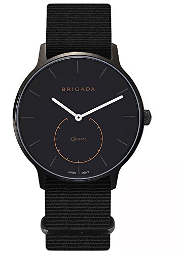 Amazing Cool Black Nice Fashion Men Dress Nylon Band Watch, Swiss Brand Minimalist Business Casual Quartz Men's Watch Waterproof