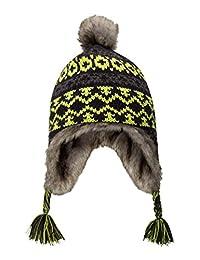 Mountain Warehouse Crisscross Jacquard Kids Hat -Cute Faux Fur Cap Hat