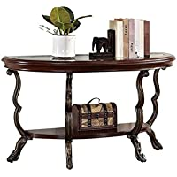 Acme 80122 Bavol Sofa Table, Cherry Finish