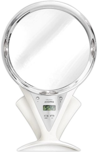 Zadro Led Lighted Fogless Mirror With Clock - 3