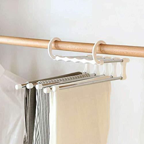 JHFUH 2Pcs Multi-Functional Closet Organizer Space Saver Clothing Rack Magic Hanger Clothes Hook Double Hooks Suitable for Organizing Pants Skirts Jeans Shirts Towels