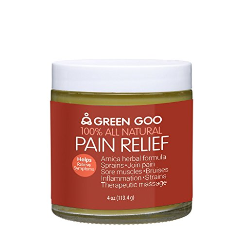 Green Goo Natural Skin Care for Inflammation, Joint Pain, Sore Muscles, Bruises, Pain Relief with Arnica, Jar, 4 Ounce (Packaging May Vary) (Best Relief For Sore Muscles)