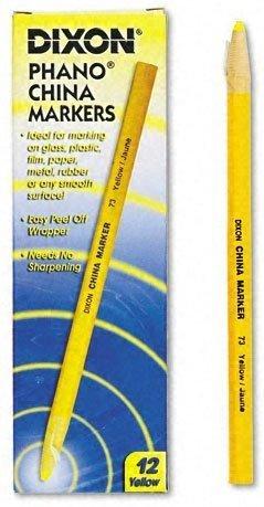 DIXON TICONDEROGA CO. China Marker, Yellow, Dozen (73)