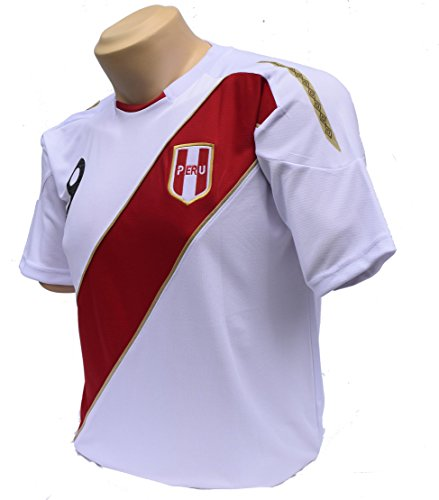 Official Soccer Jersey - PERU Soccer Jerseys for 2018 Russia World Cup . Size S(SMALL)| Support Your Team during Soccer World Championship