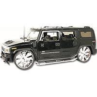 Jada 1/24 Scale Metal Model Car 90403 - Hummer H2 - Metallic Black