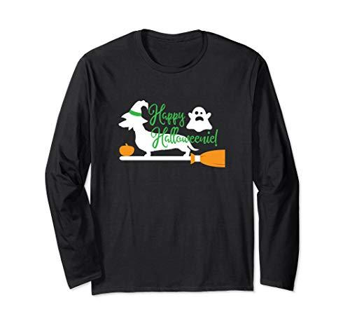 Happy Halloweenie Wiener Dog Long Sleeve T-Shirt]()