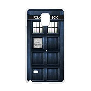 DAHAOC Doctor Who blue police box Cell Phone Case for Samsung Galaxy Note4