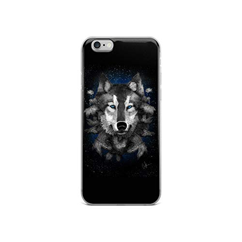 iPhone 6/6s Case Anti-Scratch Creature Animal Transparent Cases Cover Night Wolf Animals Fauna Crystal Clear -