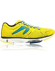 Newton Running Womens Distance V Yellow/Blue Sneaker (10.5)