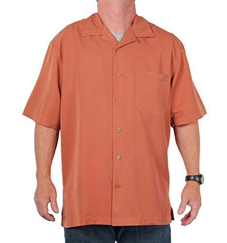 Eagle Dry Goods Men's Mosaic Camp Shirt, Terra Cotta, Size Medium ()