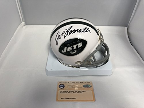 Joe Namath Signed Autographed New York Jets Throwback Mini Helmet Steiner Sports - Steiner Jets