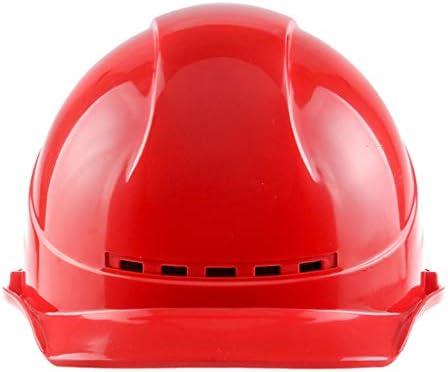 ヘッド保護 建設ヘルメット - ライトトランスミッションABSヘルメットサイト航空作業建設サイト建設キャップ 作業安全装置 (色 : 白)