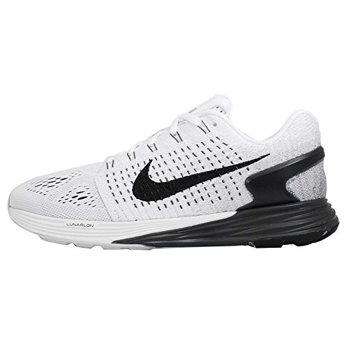 Nike Womens Wmns Lunarglide 7, WHITE/BLACK-ANTHRACITE-COOL GREY, 6.5 M US (Cool Womens Nike Tennis Shoes compare prices)