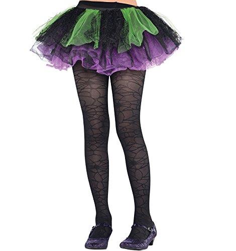 Amscan Costume AccessoryBlack Spider Web Tights - Child Small/Medium, Multicolor -