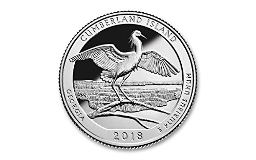 2018 S Cumberland Island National Park Silver Proof Quarter PF1