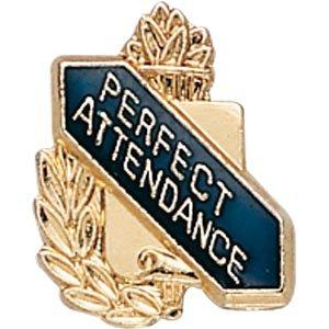 [Lapel Pins (10-Pack): Scholastic Award Pin - Perfect Attendance] (Attendance Award Pin)