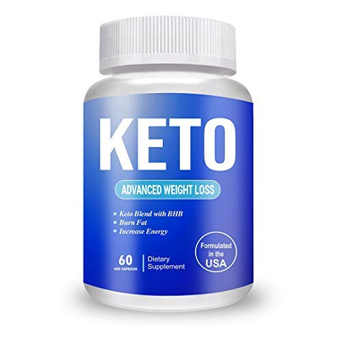 Keto Advanced Weight Loss Supplement Natural Advanced Fat Burner Green Tea and Coffee, Garcinia Cambogia, Apple Cider Vinegar (60 Capsules)