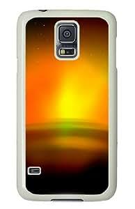Samsung Galaxy S5 Case and Cover - Aurora Sunrise PC Hard Case Cover for Samsung Galaxy S5 White