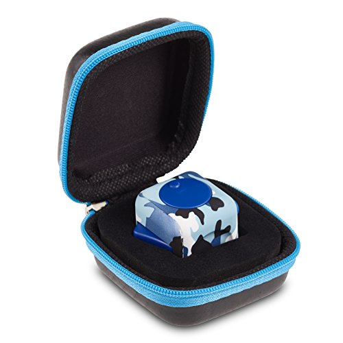 Snippets Printed (Camouflage Fidget Cube Original Envolve (Blue) - Includes two Silent Buttons - For focus, calm anxiety, and break nervous habits (Gift Packaging))