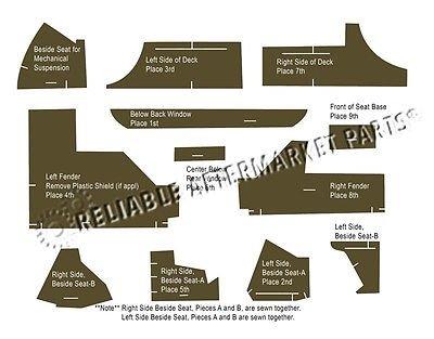 AR40E-55 New Multi-Brown Cab Kit For John Deere 4030 040 4230 4240 4440 +