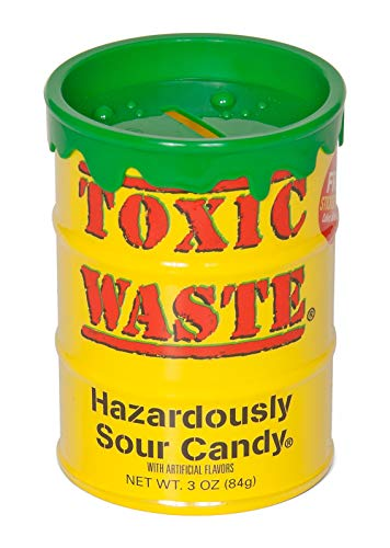 TOXIC WASTE Toxic Waste Bank Original Yellow, Assorted Flavors, 3.0 Ounce