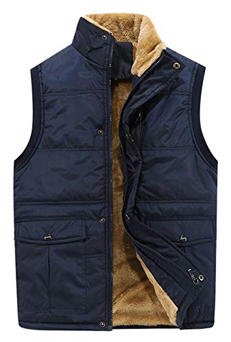 HOWON Men's Fleece Outerwear Vest (Gift Idea) Blue US S