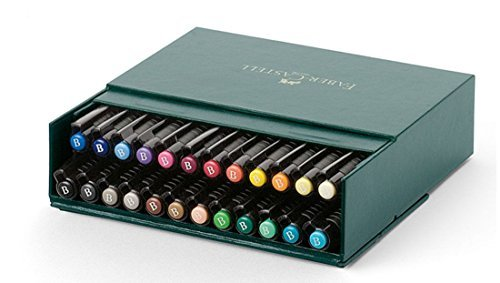 Faber Castell Pitt Artist Brush Tip Pens 24 Colour Box Set 167147 Colored pencil Faber Castell Box