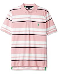 U.S. Polo Assn. Men's Classic Fit Striped Pique Shirt