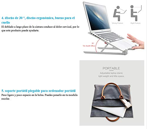 Amazon.com: Leoie Laptop Stand Folding Portable Lapdesk for Laptop Ergonomic Notebook Stand: Electronics