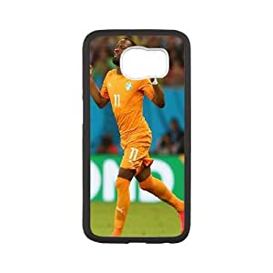 Samsung Galaxy S6 Cell Phone Case Black Drogba World Cup FXS_753815