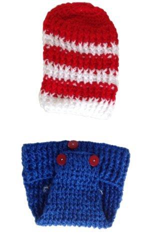 Amazon.com   Handmade American Flag Baby Hat Set   Baby Keepsake Products    Baby 57d27a4cd27e