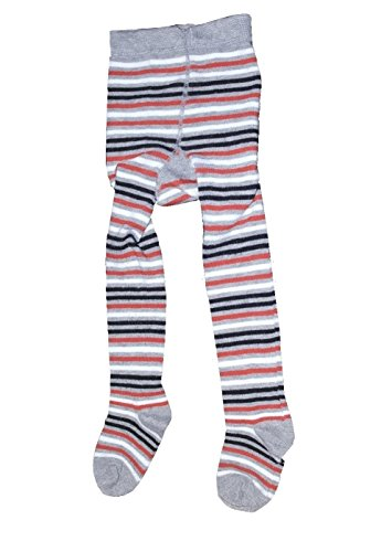 Bomio Toddlers Baby Boys Girls Cotton Warm Tights, Various Patterns and Sizes Available (3-6 Months, Gray-Striped)