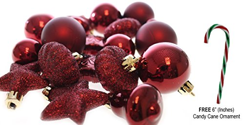 20 Holiday Time Mini Shatterproof Christmas Ball Decoration