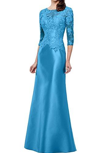 Schmaler mia Schnitt La Champagner Braut Abendkleider Spitze Blau Brautmutterkleider Etuikleider Lang Promkleider Figurbetont vOwqZxnOP