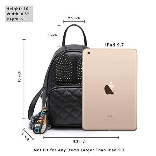 Girls Rabbit Ear Cute Mini Leather Backpack, XB Small Backpack Purse for Women Fashion Shoulder Bag (Black) by XB HANDBAG (Image #3)