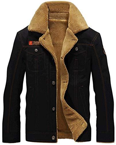 Warm Sleeve Apparel Plus Jacket Jackets Outerwear Coat Velvet Coat Outwear Long Huixin Schwarz Breasted Men's Single Lapel Thick 0qHEEF