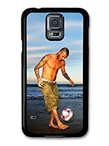 AMAF ? Accessories David Beckham Beach Playing Football Player case for Samsung Galaxy S5 wangjiang maoyi by lolosakes