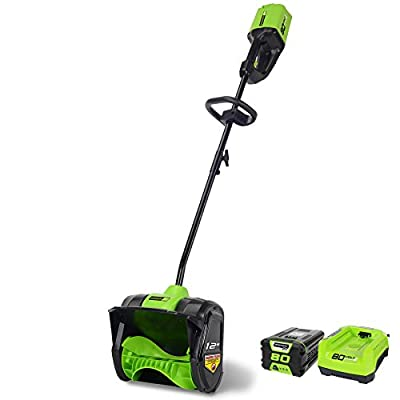 GreenWorks Pro 2600602 80V 12-Inch Cordless Snow Shovel, 2Ah Battery and Charger Included