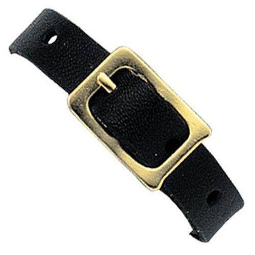 25 Black Leather Luggage Tag Loop Buckle Strap Lenticular (Black Leather Luggage Tag)