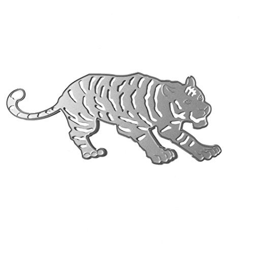 Anboo Chinese Zodiac Metal DIY Embossing Cutting Dies Stencil Scrapbooking Album Paper Card Art Craft (Tiger)