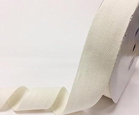 Bertie s Bows 40 mm marfil algodón cinta de espiga/cincha en un 4 ...