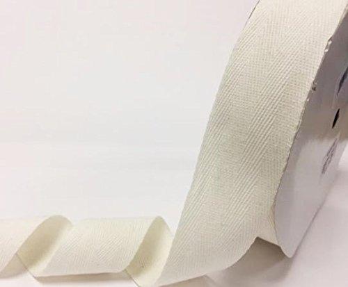 N.B. este es un corte de un rollo, presentado en una tarjeta de bertie s Bows Bertie s Bows 40/mm marfil algod/ón cinta de espiga//cincha en un 4/m longitud