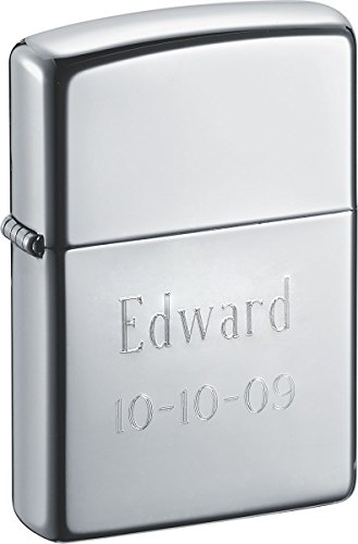 Personalized Zippo Lighters With Two Lines of Free Text Engraving (Line 2 Lighter)