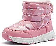COOJOY Boys Girls Winter Snow Boots Waterproof Non-Slip Cold Weather Warm Faux Fur Lined Shoes