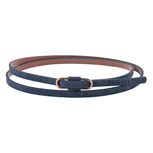 Navy Belts Waistband Premium Jeans Solid Retro Damara blue Womens Slim PU qAwIxznf86