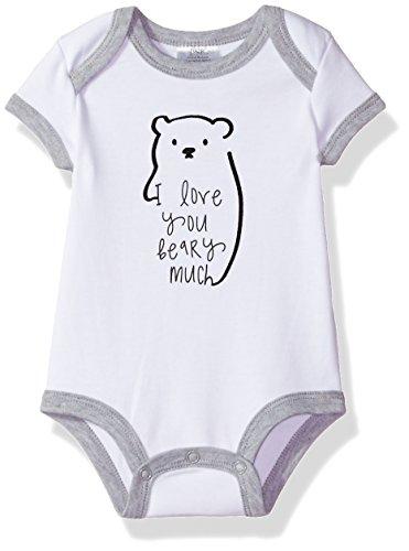 Baby Essentials Baby Boys Bodysuit, White, 6-9 - Suits Essential