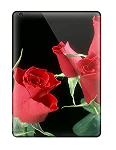 Hot 2128126K90344725 Fashionable Ipad Air Case Cover For Red Roses Flowers Protective Case