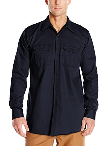 picture of Red Kap Men's Deluxe Heavyweight Cotton Shirt, Dark Navy, Small