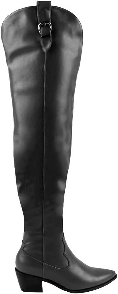 EUYZOU Women's Wide Calf Thigh High
