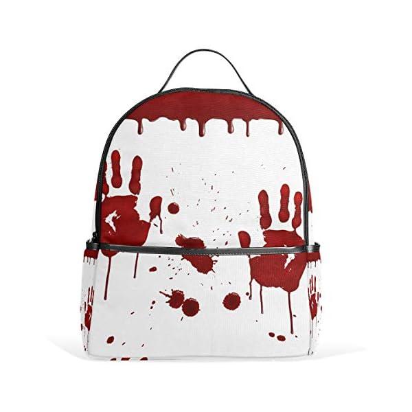 Halloween Handprint zaino spaventoso per donne adolescenti ragazze borsa moda borsa libreria bambini viaggio università… 2 spesavip
